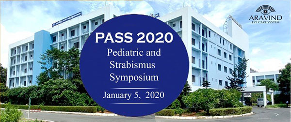 Dr. Monte Del Monte featured speaker at Pediatric Symposium at Aravind Eye Hospital in January 2020.