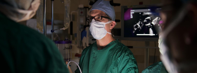 Dr. Mychaliska in the operating room
