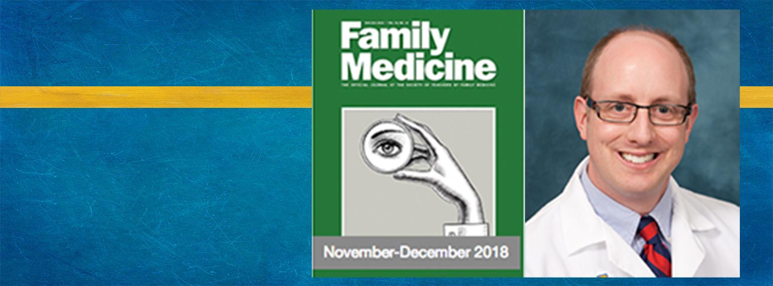 Joel J. Heidelbaugh Headshot and Cover of the Nov-Dec 2018 Family Medicine Journal