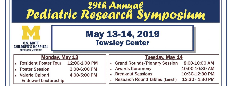 2019 Pediatric Research Symposium