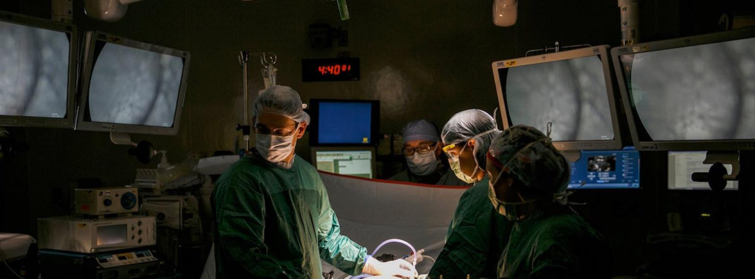 Surgical team in the operating room