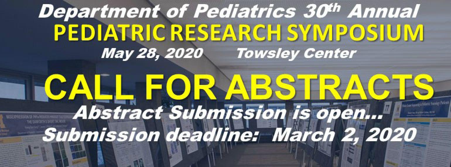 Pediatric Research Symposium Call for Abstracts