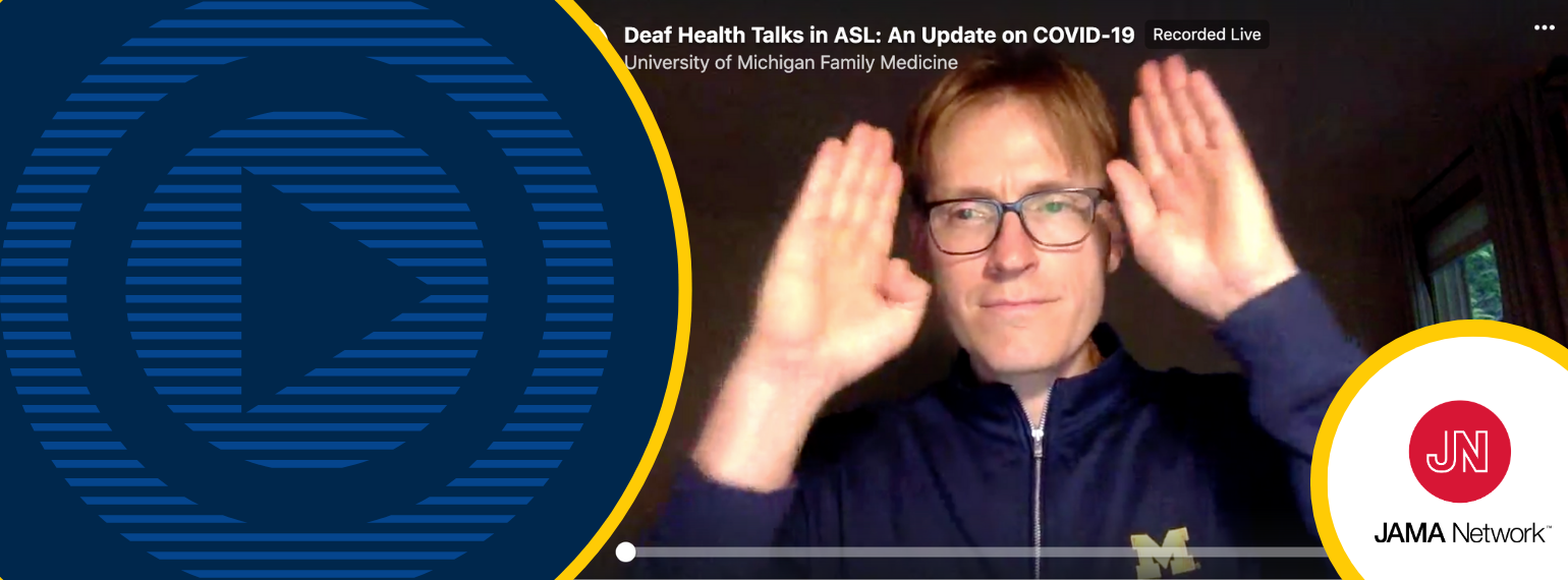Michael McKee Facebook Live Deaf Health Talks COVID-19 and JAMA publication