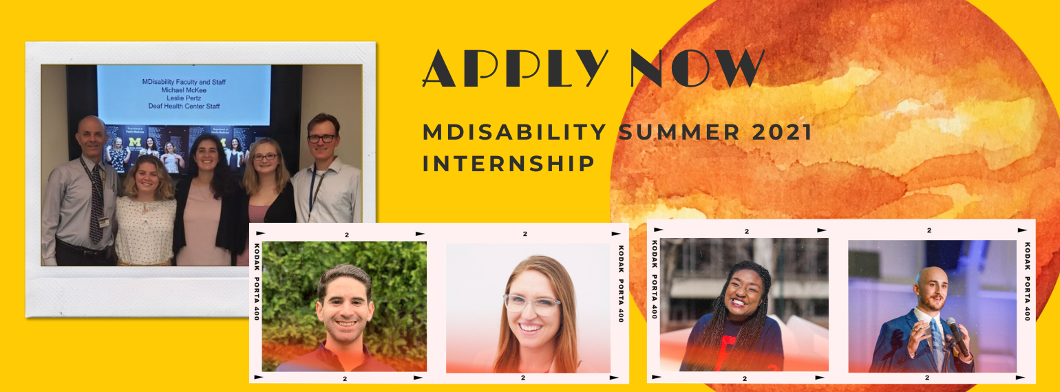 Apply now MDisablity Summer 2021 Internship Program