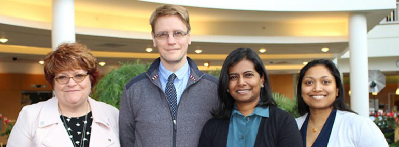 L-R: Lori Isom, Ph.D., Johann Gudjonsson, M.D., Ph.D., Santhi Ganesh, M.D., Kanakadurga Singer, M.A., M.D.