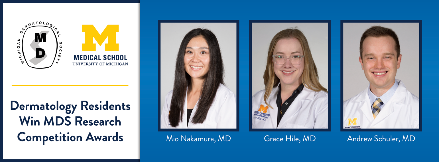 Dermatology residents win MDS Resident Research Competition Awards