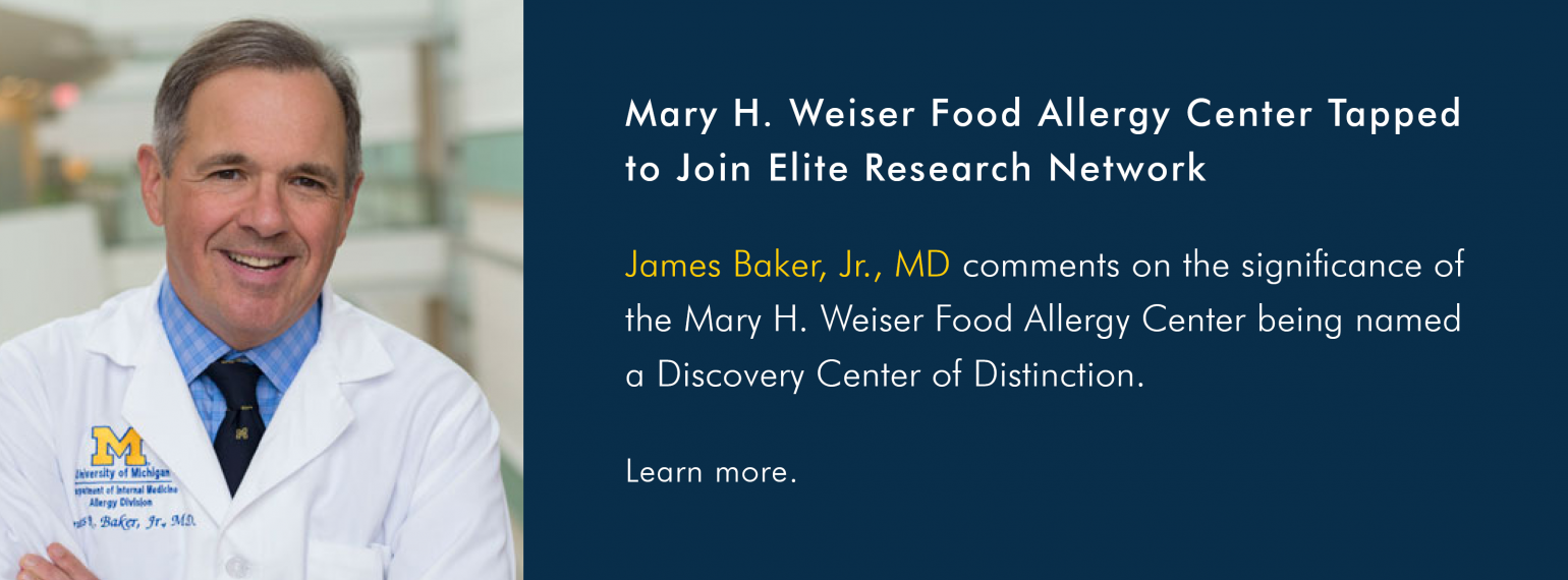 Mary H. Weiser Food Allergy Center Tapped to Join Elite Research Network