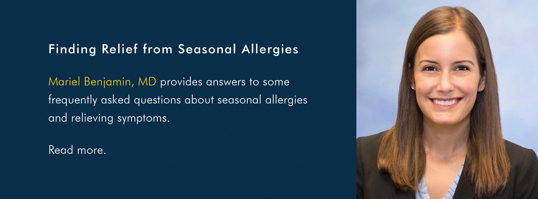 Finding Relief from Seasonal Allergies
