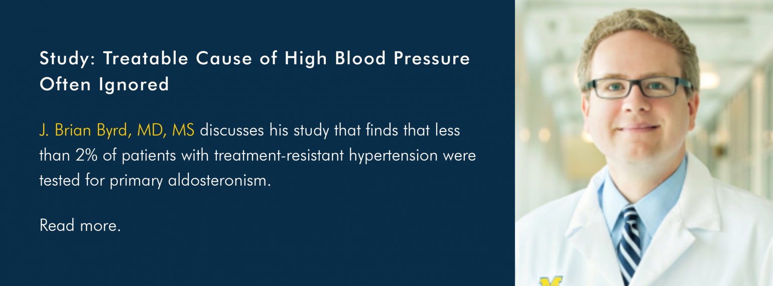 Study: Treatable Cause of High Blood Pressure Often Ignored