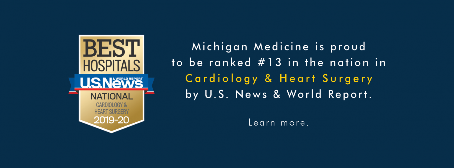 Cardiology & Heart Surgery Ranked #13 in the Nation