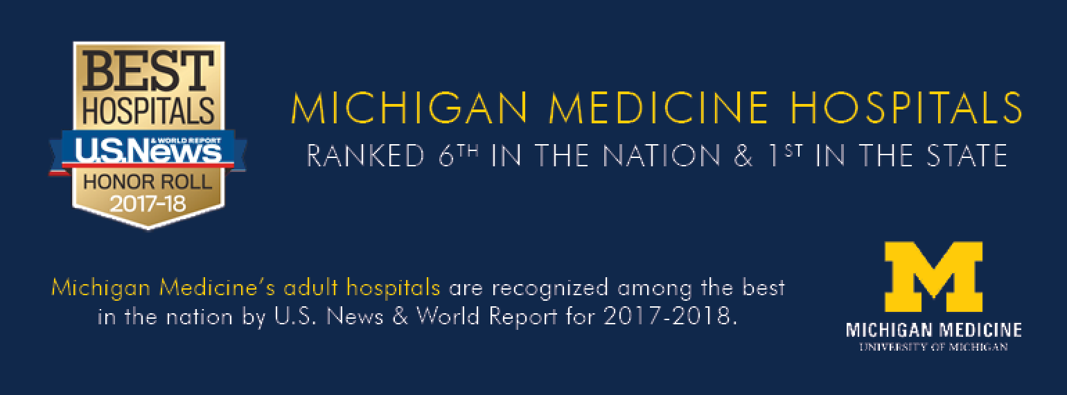 Michigan Medicine Hospitals Ranked #6 in the Nation