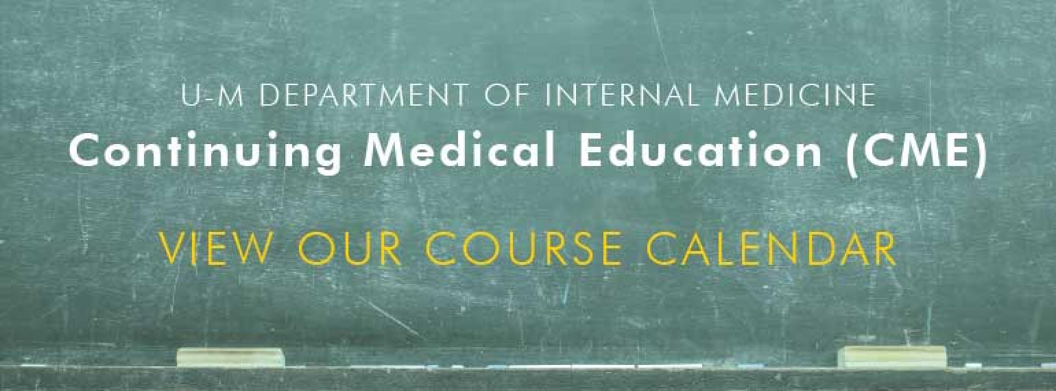 Internal Medicine CME Course Calendar