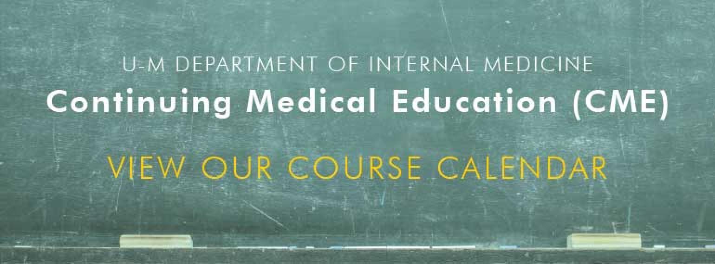 Internal Medicine CME Course Calendar