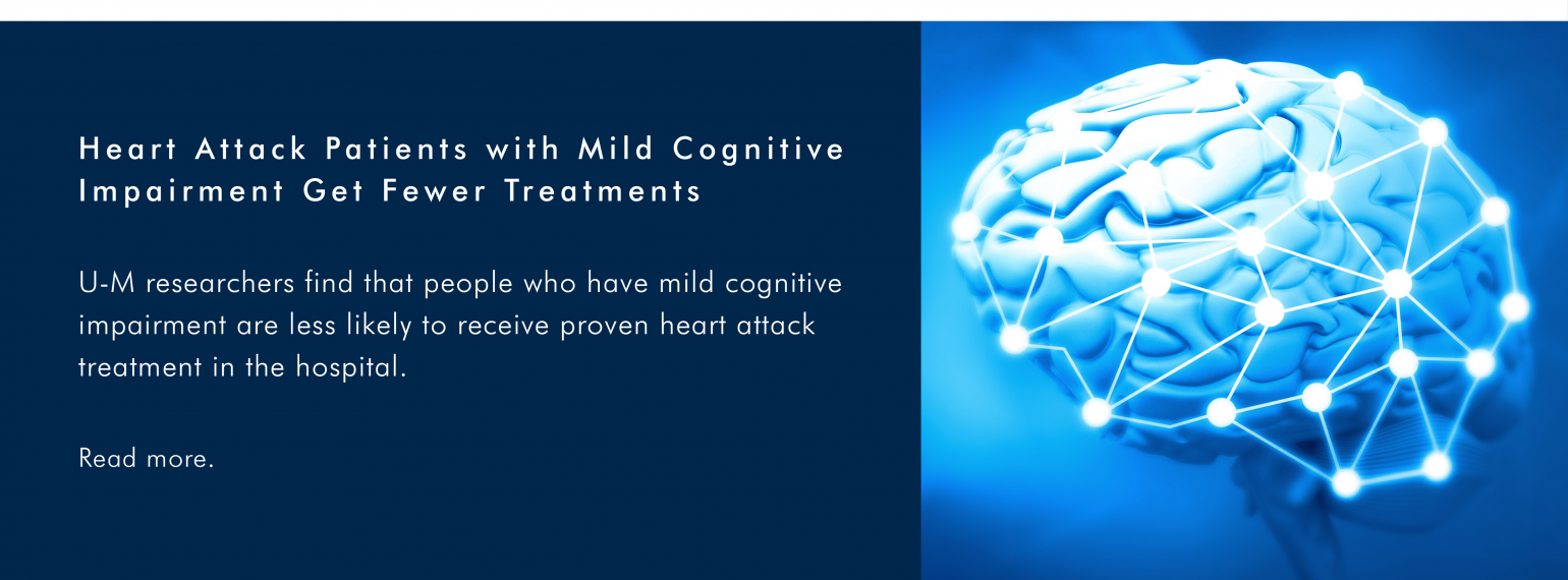 Heart Attack Patients with Mild Cognitive Impairment Get Fewer Treatments