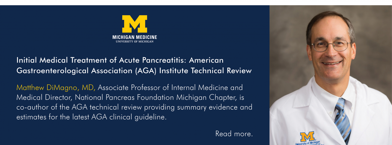 U-M Department of Internal Medicine, Dr. Matthew DiMagno
