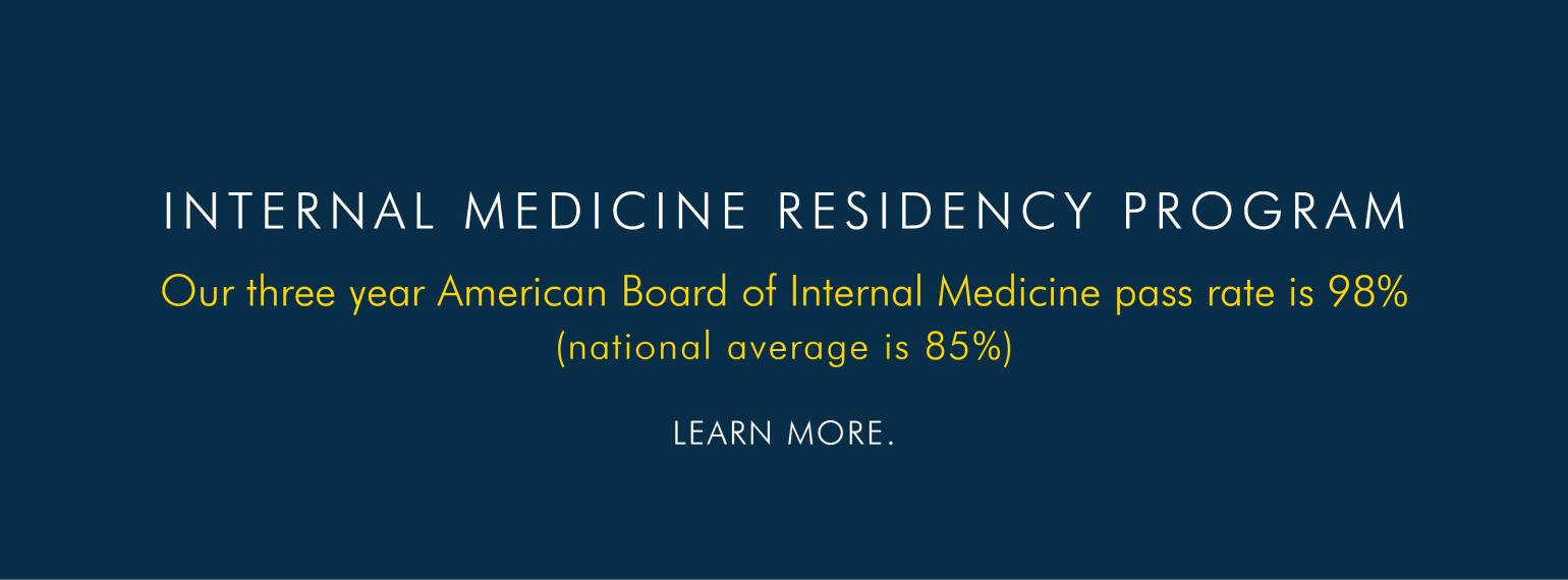 U-M Internal Medicine Residency pass rate