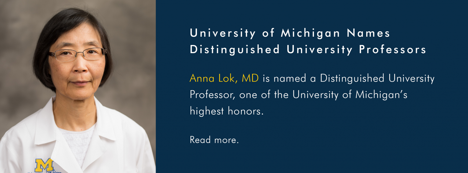 Anna Lok, MD is named a Distinguished University Professor