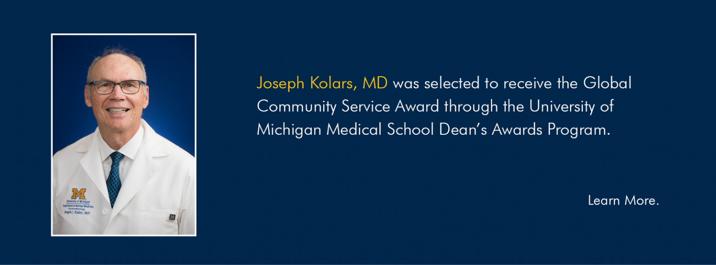 Kolars Global Community Service Award