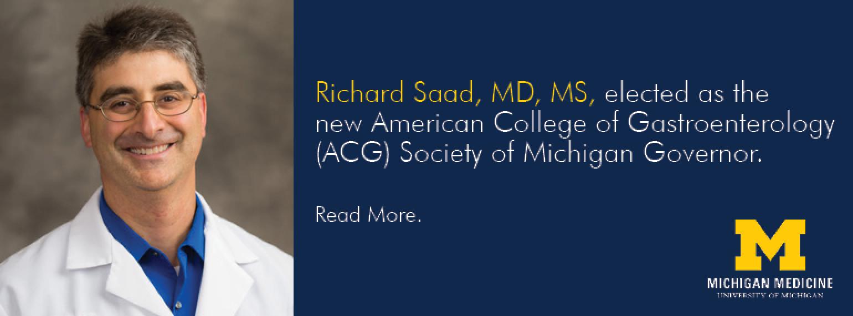U-M GI & Hepatology Division, Richard Saad, MD, MS