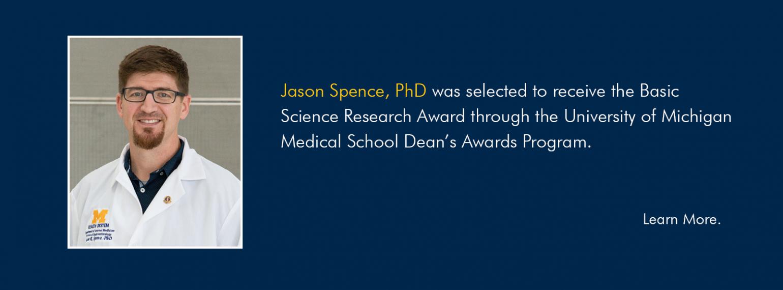 Jason Spence, PhD, Basic Science Research Award