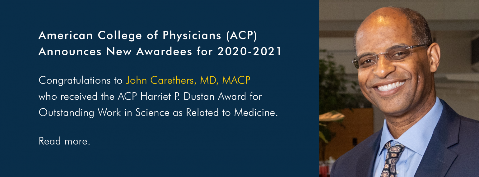 American College of Physicians (ACP) Announces New Awardees for 2020-2021