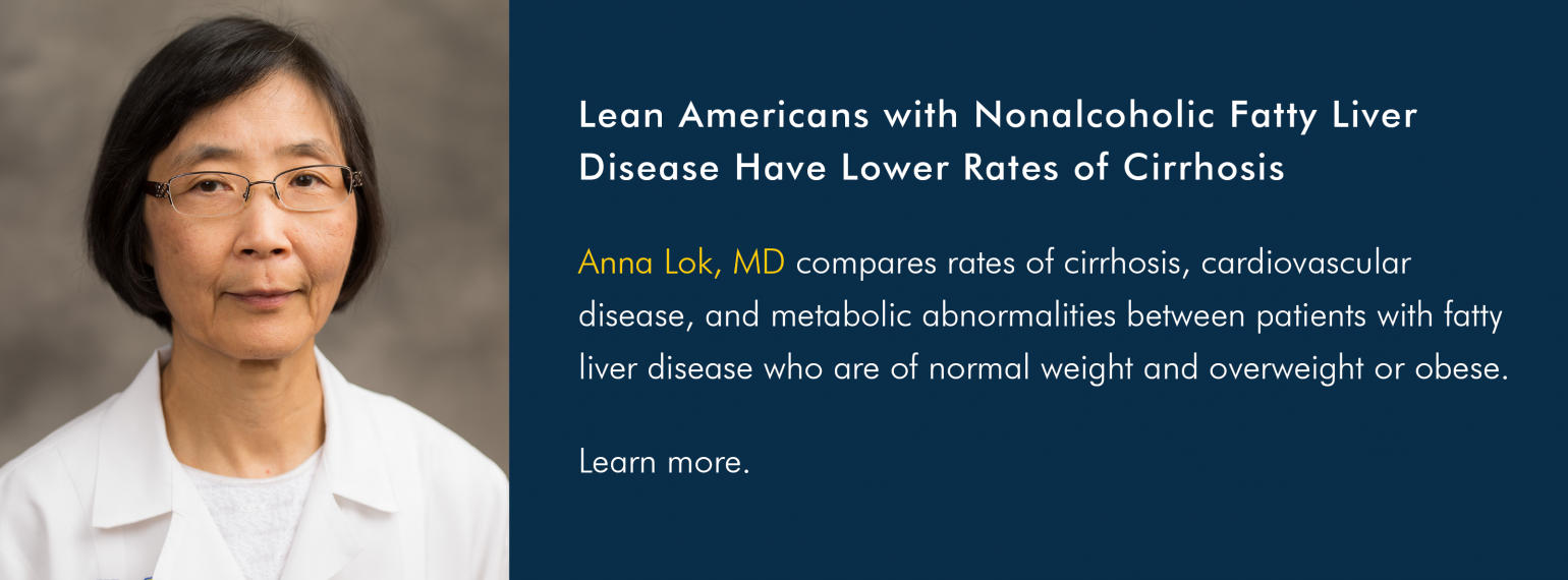 Lean Americans with Nonalcoholic Fatty Liver Disease Have Lower Rates of Cirrhosis