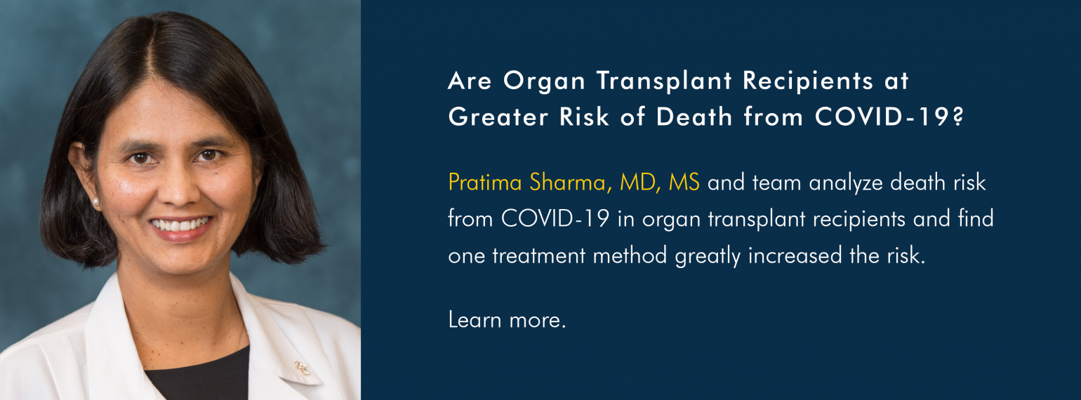 Are Organ Transplant Recipients at Greater Risk of Death from COVID-19?
