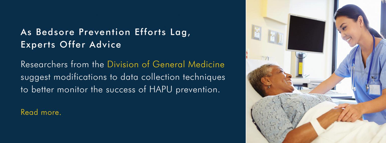 U-M Division of General Medicine - As Bedsore Prevention Efforts Lag, Experts Offer Advice