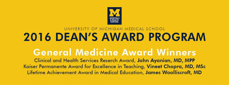 University of Michigan Division of General Medicine Awards