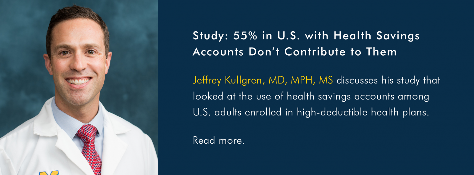 Study: 55% in U.S. with Health Savings Accounts Don't Contribute to Them