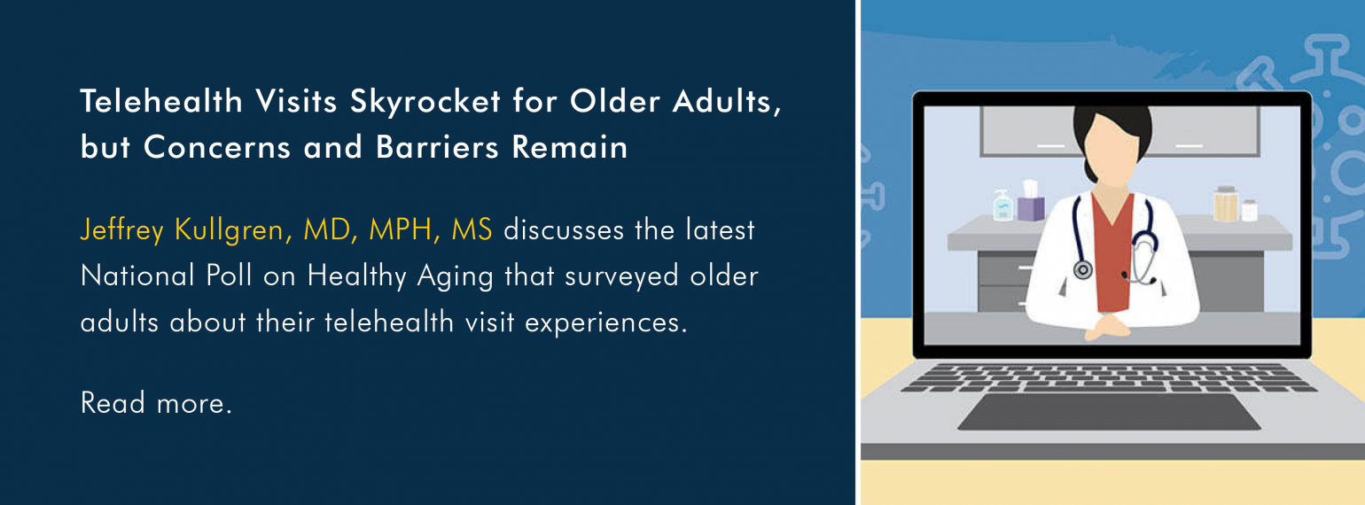 Telehealth Visits Skyrocket for Older Adults, but Concerns and Barriers Remain