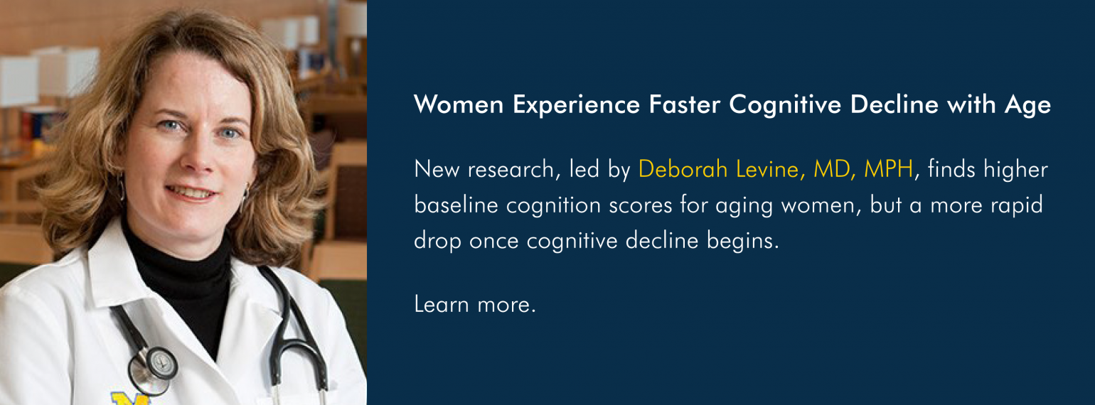 Women Experience Faster Cognitive Decline with Age