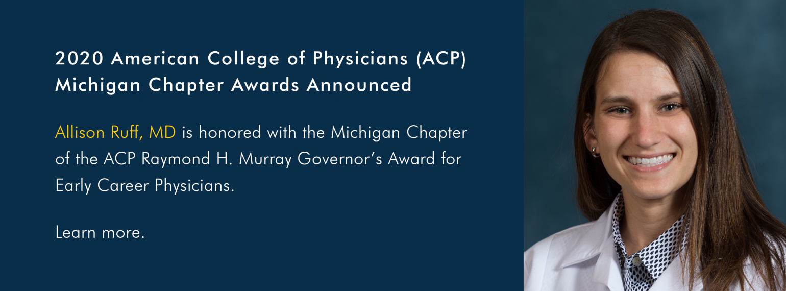 2020 American College of Physicians (ACP) Michigan Chapter Awards Announced