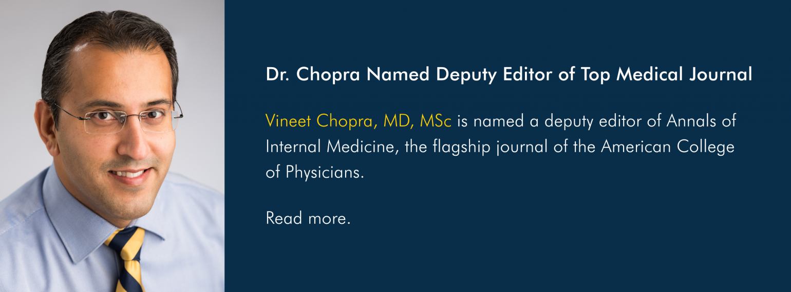 Dr. Chopra Named Deputy Editor of Top Medical Journal