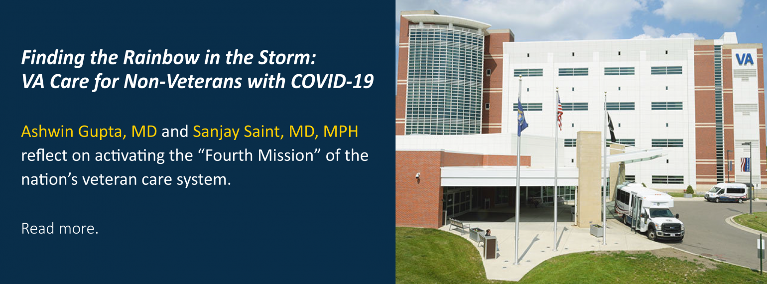 Finding the Rainbow in the Storm: VA Care for Non-Veterans with COVID-19