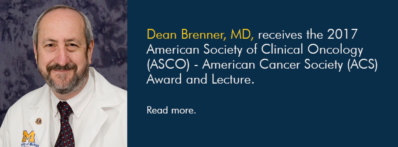 U-M Hematology & Oncology Division, Dr. Dean Brenner