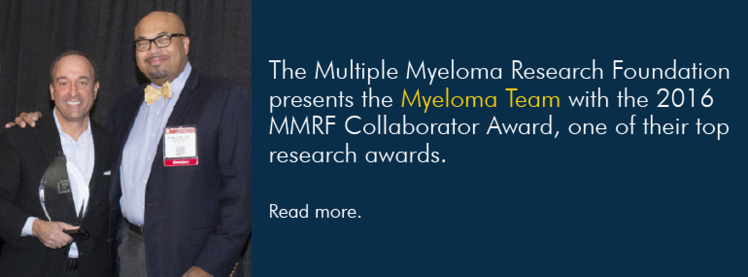 U-M Hematology & Oncology Division wins MMRF Collaborator Award