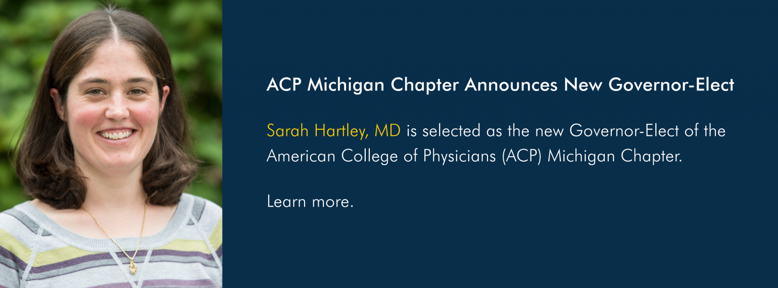ACP Michigan Chapter Announces New Governor-Elect