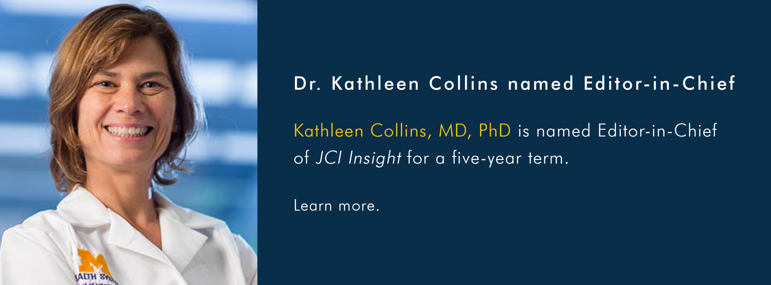 Dr. Kathleen Collins named Editor-in-Chief