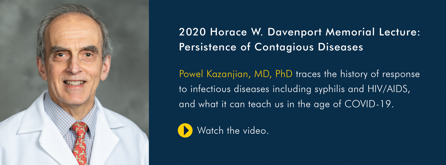 2020 Horace W. Davenport Memorial Lecture: Persistence of Contagious Diseases