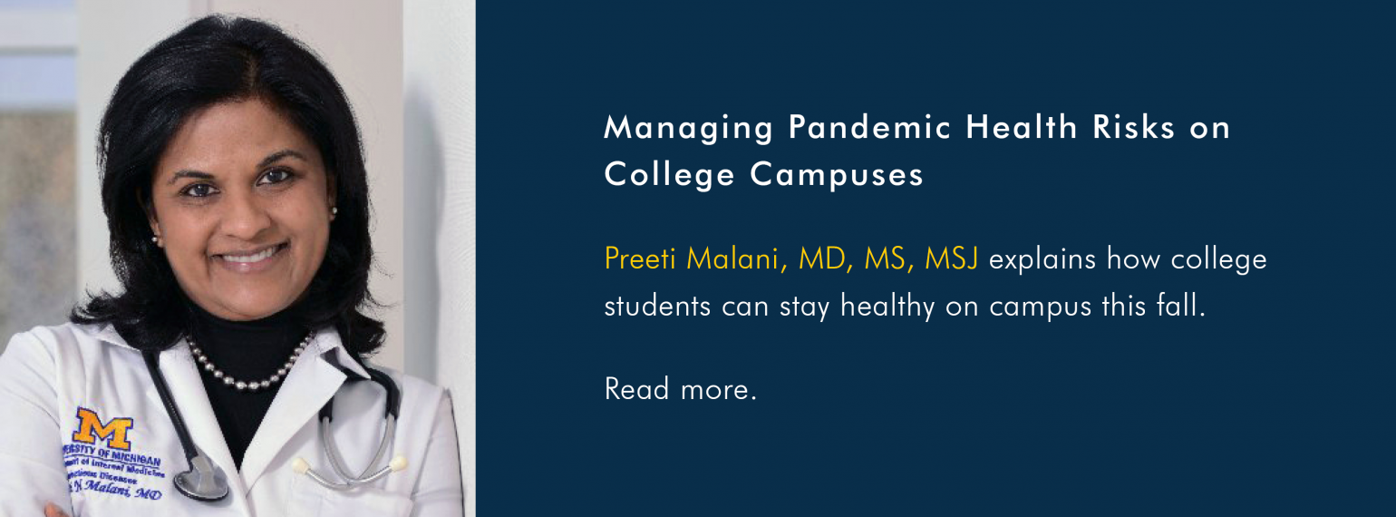 Managing Pandemic Health Risks on College Campuses
