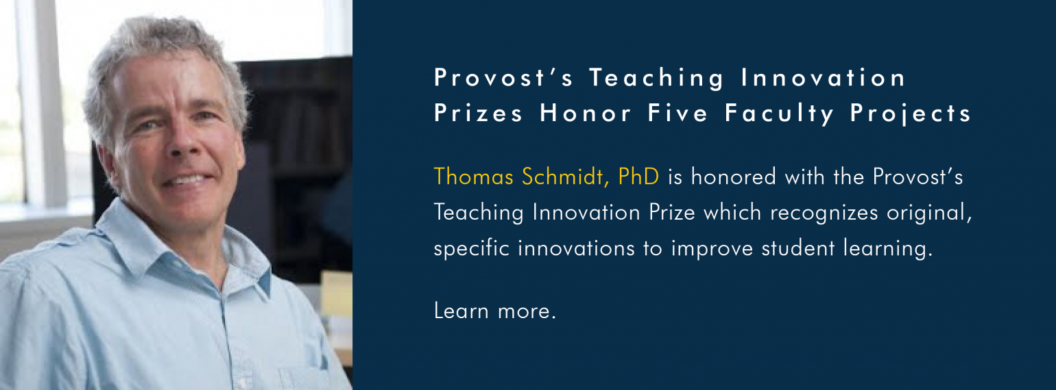 Provost's Teaching Innovation Prizes Honor Five Faculty Projects