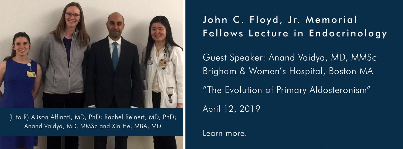 U-M MEND Division, John C. Floyd, Jr. Memorial Fellows Lecture in Endocrinology