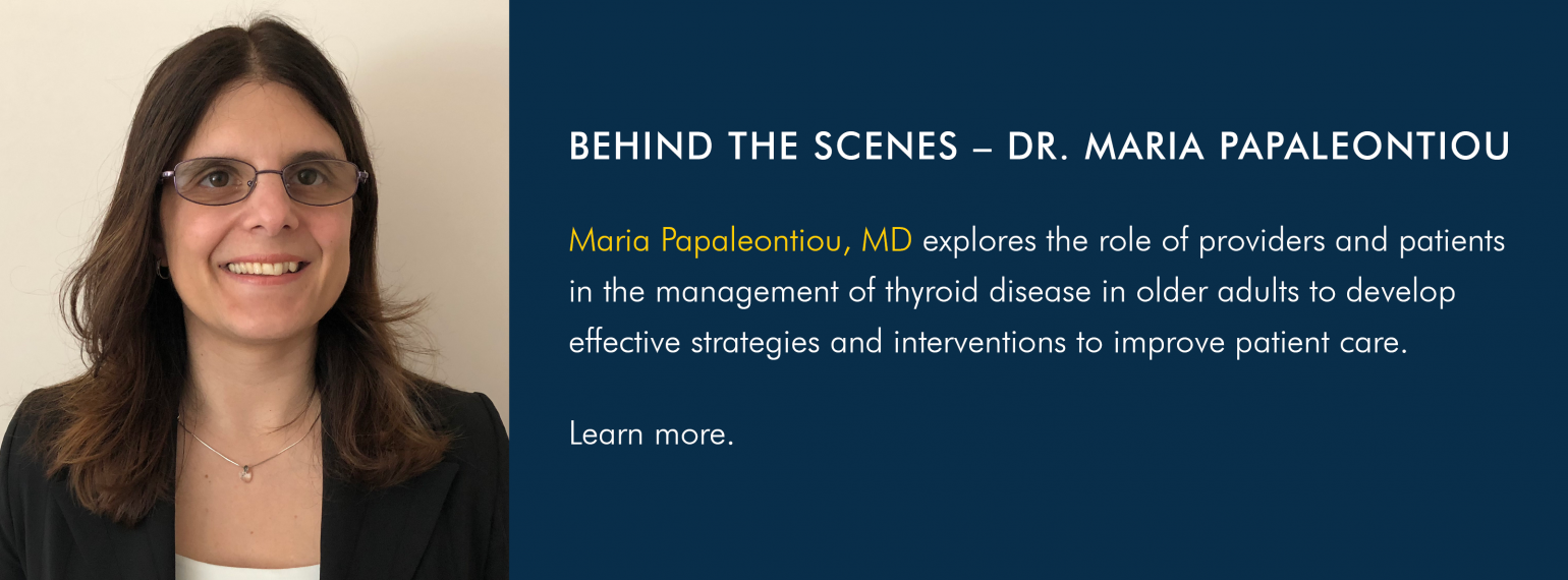 Behind the Scenes with Dr. Maria Papaleontiou
