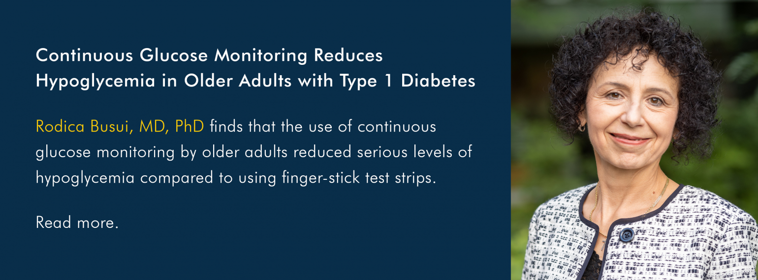 Continuous Glucose Monitoring Reduces Hypoglycemia in Older Adults with Type 1 Diabetes