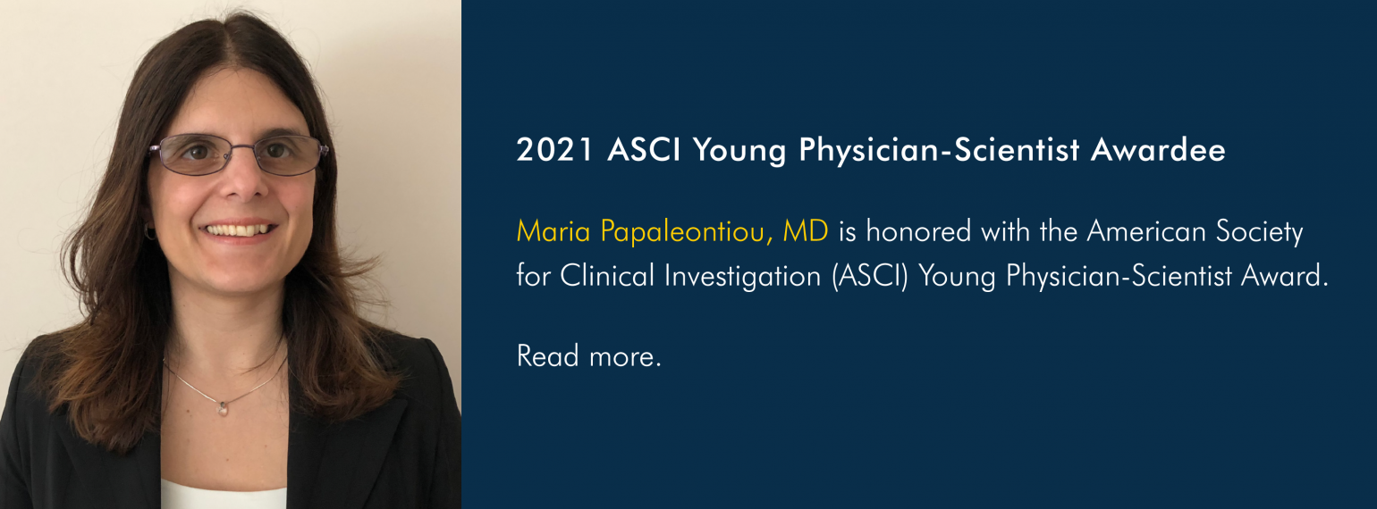 2021 ASCI Young Physician-Scientist Awardee