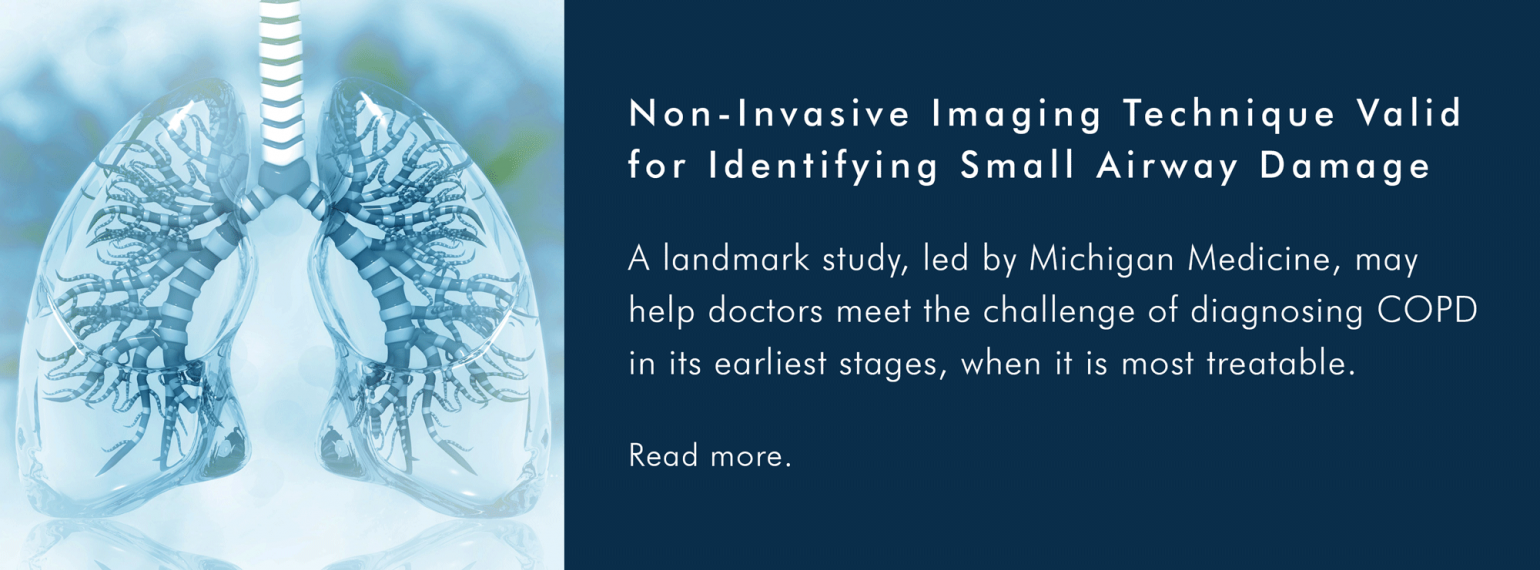 Non-Invasive Imaging Technique Valid for Identifying Small Airway Damage