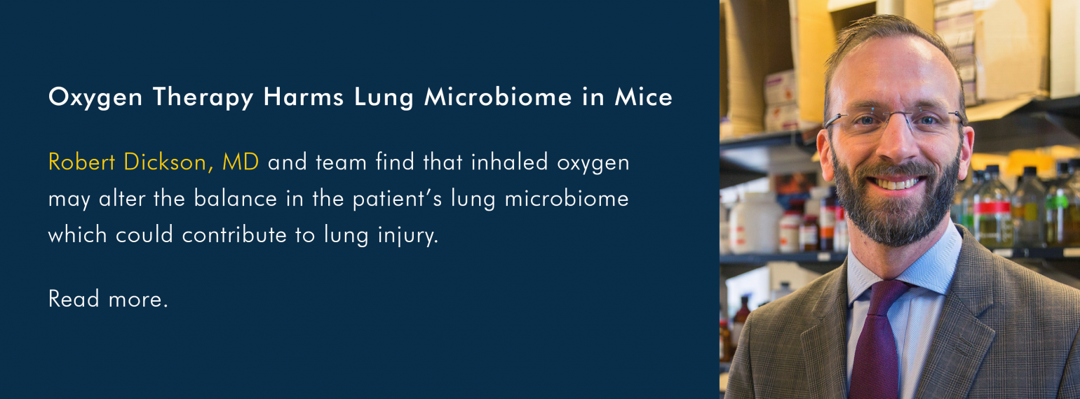 Oxygen Therapy Harms Lung Microbiome in Mice