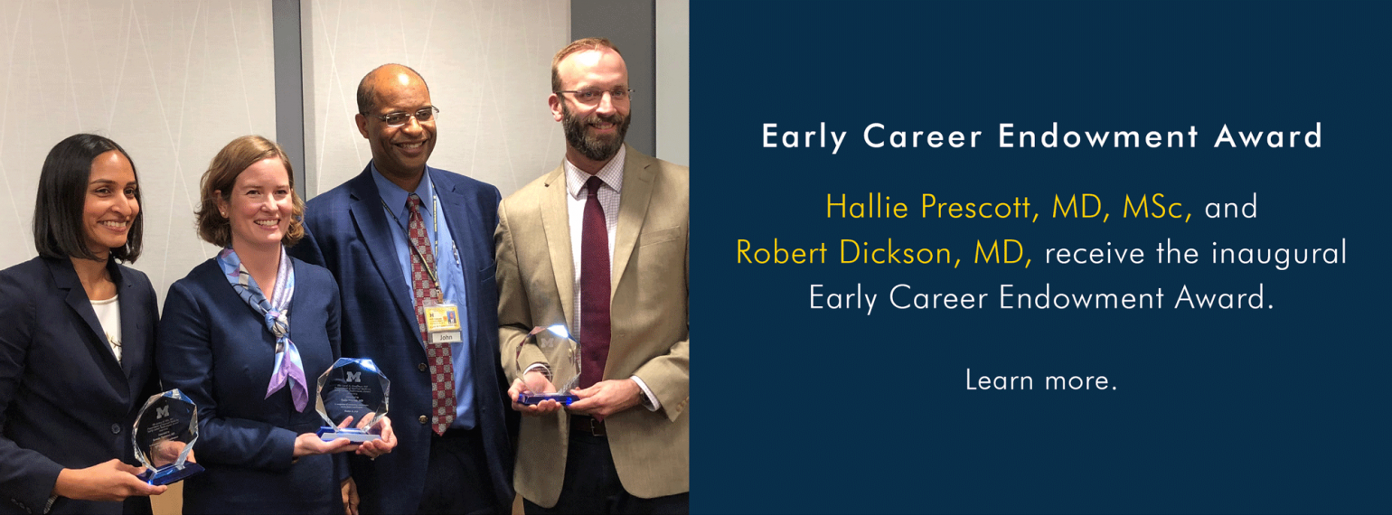 U-M Pulmonary & Critical Care Medicine Early Career Endowment Awardees