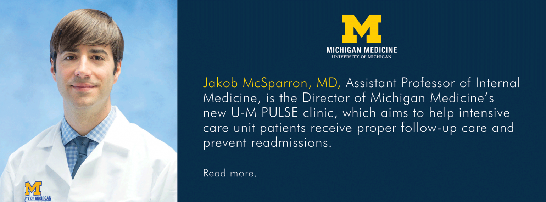 U-M Pulmonary & Critical Care Medicine, Dr. Jakob McSparron